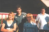 Carmona de Ville with Raúl, Robert Carlos, Fabio Capello, & van Nistelrooy in Salt Lake City, Utah