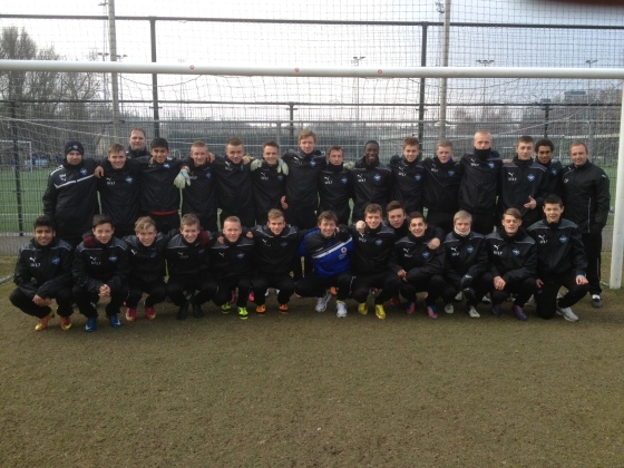 HB Koge U17 in Rotterdam, Holland for an international tournament in March 2013. Juanjo Top Row, sixth from the right.