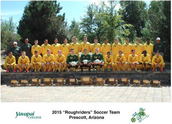 Yavapai College Soccer-Team-2015