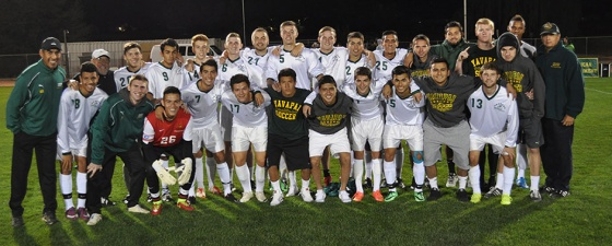 Yavapai College after winning its 24th conference title. ACCAC Conference Champions Oct 25th, 2014.