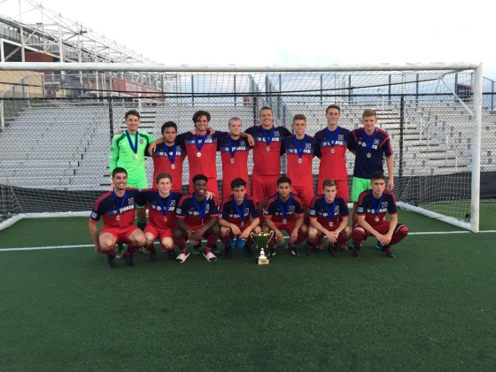 Chicago Fire U19. State Cup Champion 2015. Juanjo (Upper Row, Sixth from the Left)